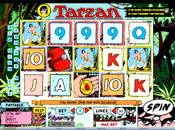 Tarzan Slots Online and Real Money Casino Play