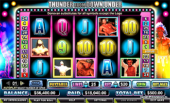 Thunder Down Under™ Slot Machine Game to Play Free in Cryptologics Online Casinos