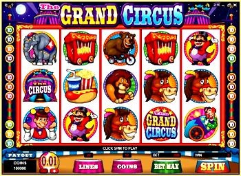 The Grand Circus Slot Machine